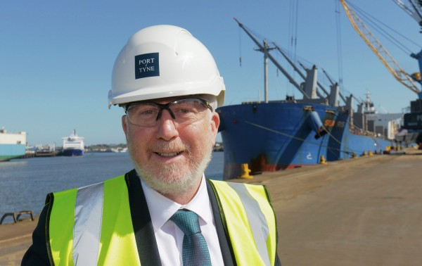 Andy McDonald Shadow Transport Secretary of State for Transport visits Port of Tyne