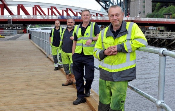 Port of Tyne engineers have restored the historic timber decking on the Swing Bridge
