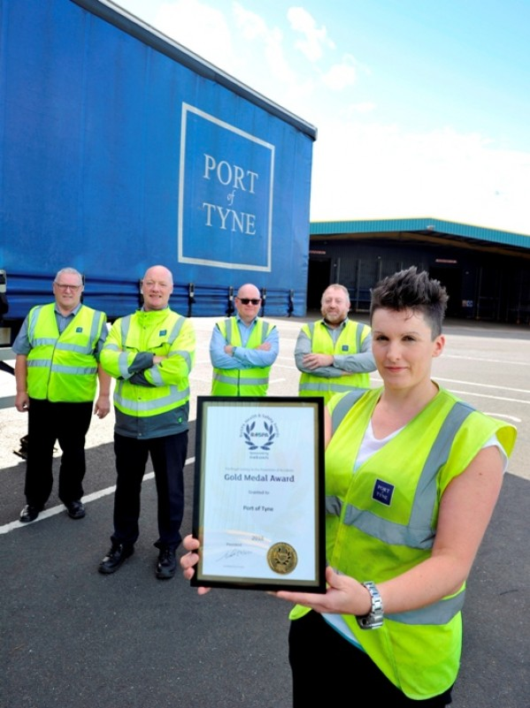 Port of Tyne is the only port in the UK to have achieved a Gold Medal in the RoSPA Awards