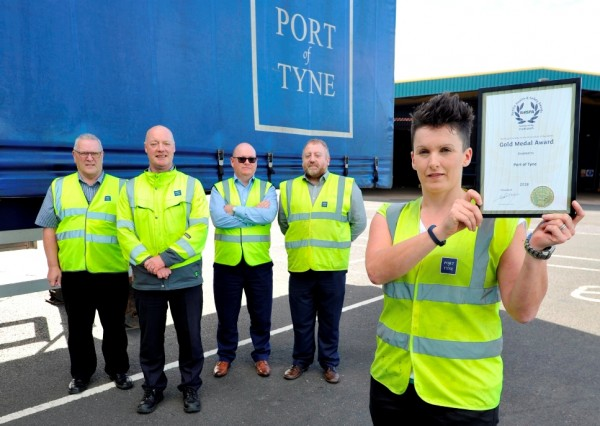 Port of Tyne collects a gold medal in this years prestigious Royal Society for the Prevention of Accidents Awards