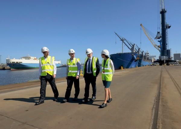 Shadow Transport Secretary of State for Transport visits Port of Tyne