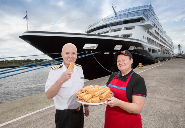 Captain Johannes Tysse of Azamara Cruises orders boat load of Greggs sausage rolls on first cruise to Port of Tyne
