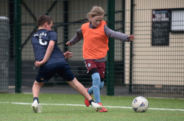 Practising their skills at South Shields FC