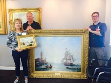 Featured image for Port of Tyne paintings go on loan