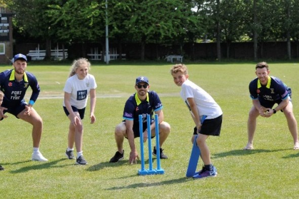Image for DURHAM CRICKETERS ATTEND PORT OF TYNE KWIK CRICKET FESTIVAL