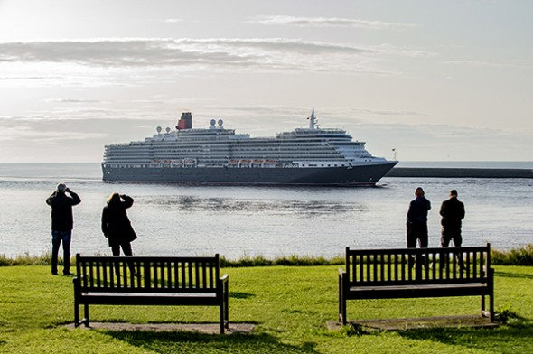 Image for PORT OF TYNE WELCOMES THE ARRIVAL OF CUNARD'S QUEEN VICTORIA